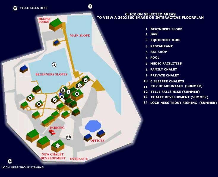 mappa impianti piste tiffindell africa