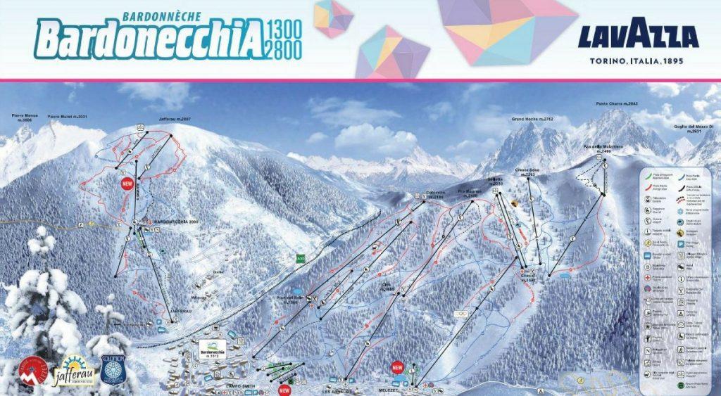 cartina impianti mappa piste sci bardonecchia