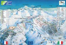 la thuile la rosiere espace san bernardo cartina impianti piste da sci 2018 2019