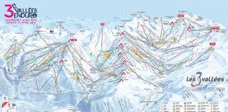 les 3 vallees cartina impianti piste da sci 2018 2019