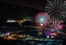 Fuochi d'artificio al Lago di Fiastra - Credits: Rodolfo Nasini