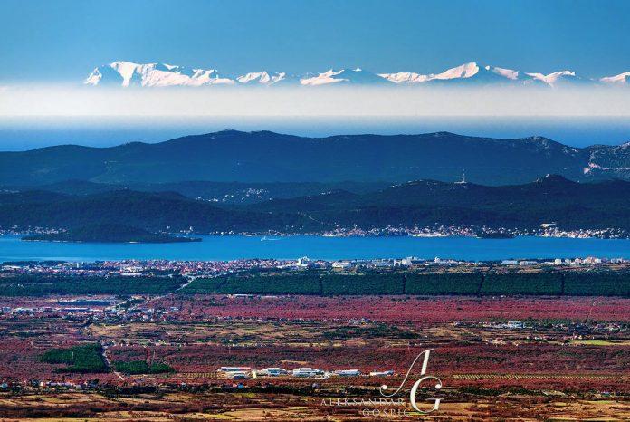 I Monti Sibillini visti dalla Croazia, la foto spettacolare foto di Aleksandar Gospić