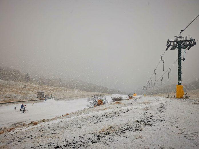 Bolognola, prima nevicata del 2020