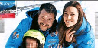 Matteo Salvini in vacanza a Bormio con la figlia Mirta e Francesca Verdini