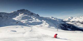 St. Moritz, la pista sci Hahnensee sul Corvatsch