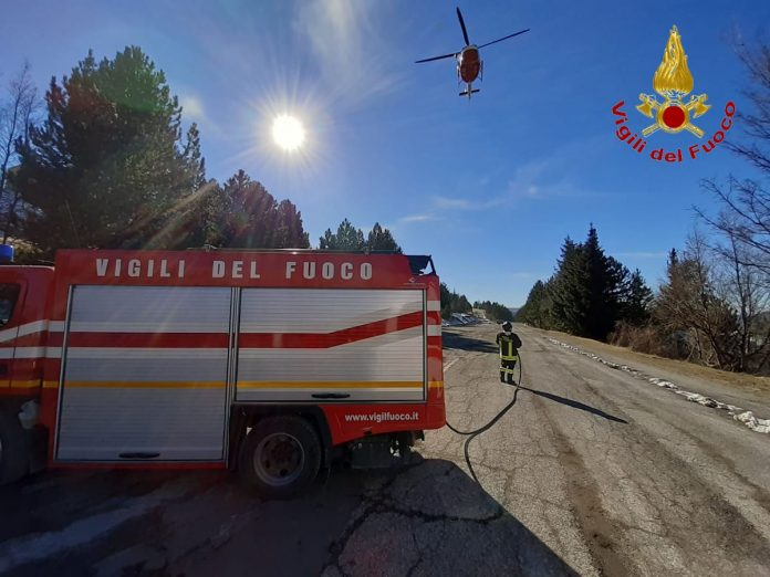 Monte Bove, escursionista scivola in un dirupo salvato con l'elicottero