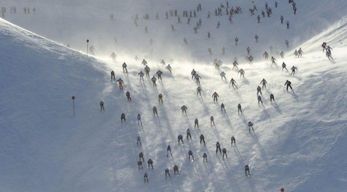 St. Anton am Arlberg la gara di sci Der Weisse Rausch