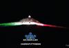 Bolognola ski illumina con il tricolore la cima del monte della Madonnina