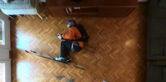 Cosa fa uno sciatore a casa durante la quarantena? VIDEO