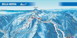Cartina impianti Sella Nevea Bovec - Mappa piste di sci Sella Nevea Bovec