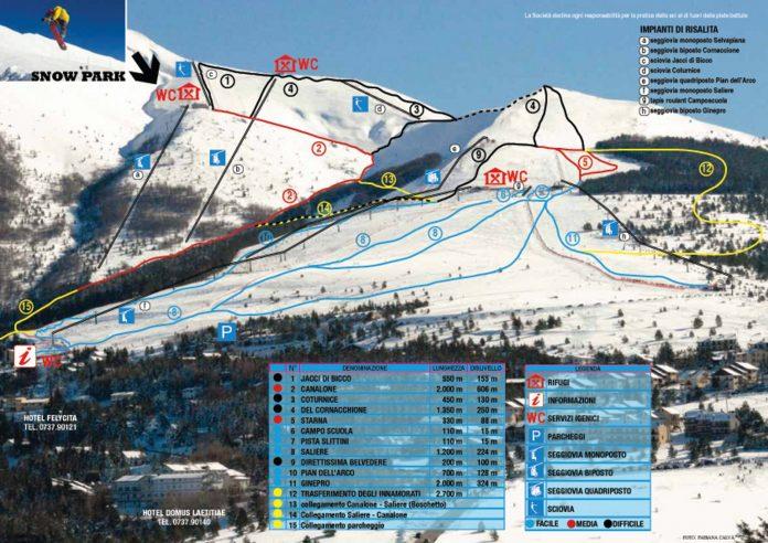 Impianti di risalita e piste da sci Frontignano di Ussita - Credits: Frontignano ski